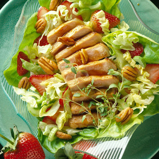 Pork and Pecan Salad with Honey-Balsamic Dressing.