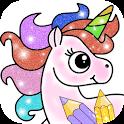 Glitter Unicorn Coloring Book - Rainbow Drawing icon