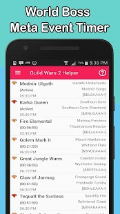 Guild Wars 2 Helper - Event Timer, Daily, Account - náhled