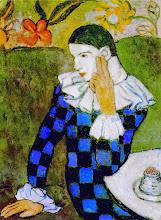 """Photo: Pablo Picasso, """"Arlecchino pensoso"""" (1901)"""