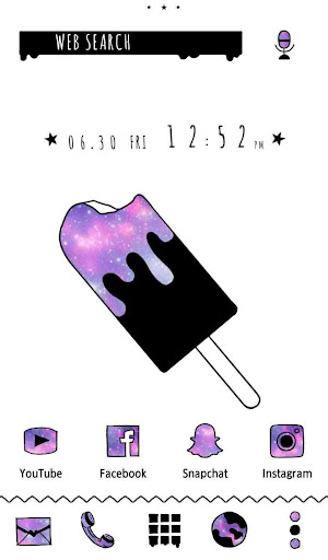 Cute Wallpaper Popsicle Galaxy Theme screenshot