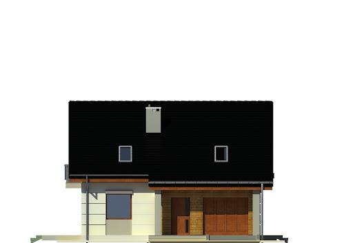Nowinka III z garażem 1-st. A na paliwo stałe - Elewacja przednia