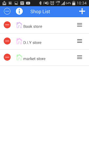 Store and shopping memo list