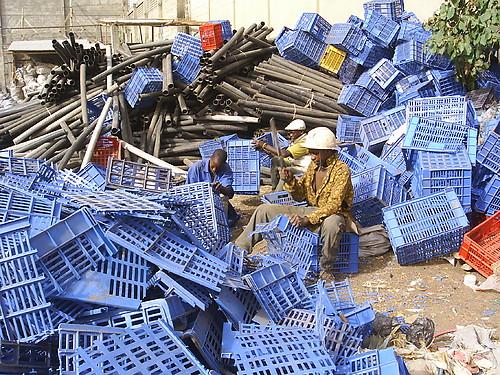 Photo: plastic crates