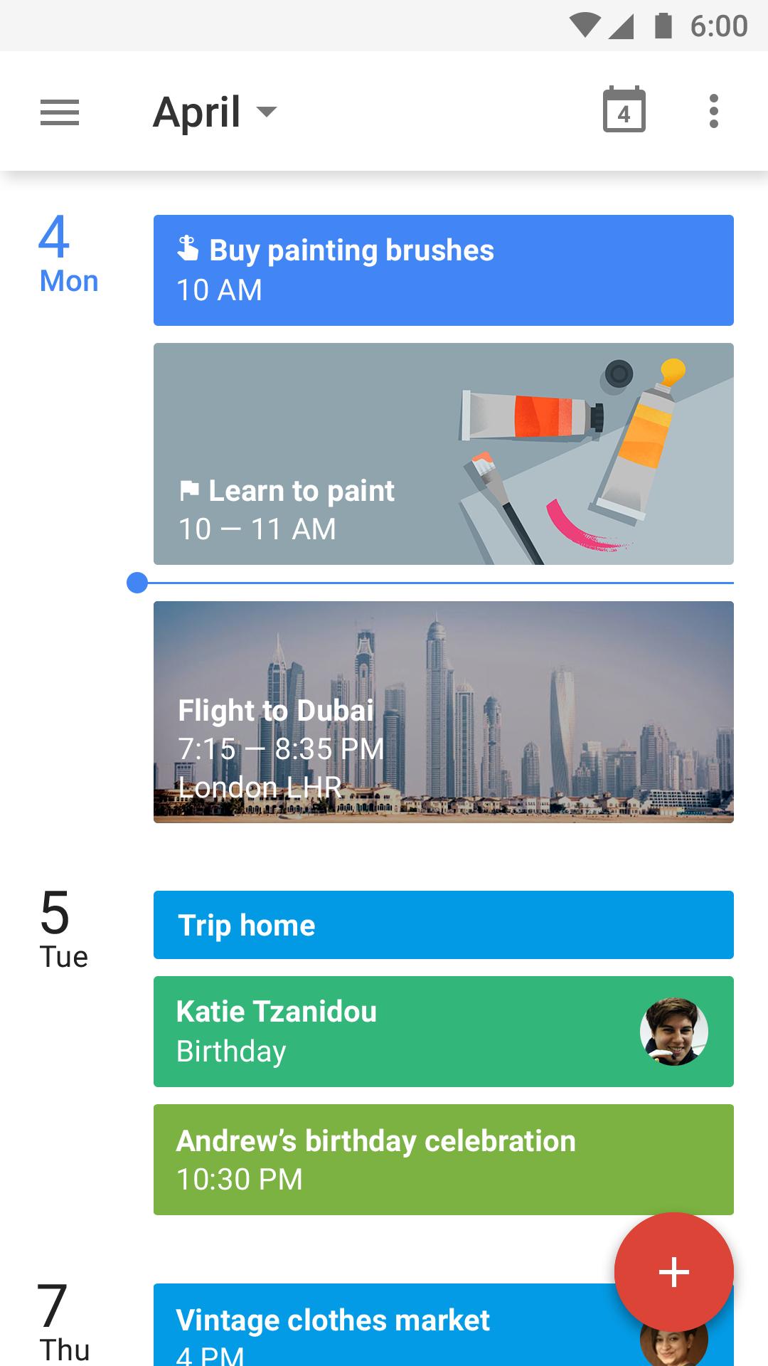 Google Calendar screenshot #1