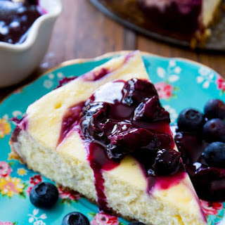 Blueberry Swirl Cheesecake.