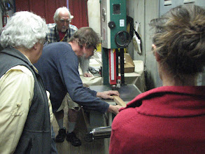 Photo: Jim demonstrating the use of the Bandsaw.