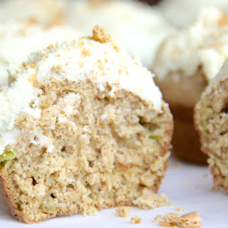 Cinnamon Zucchini Muffins with Protein Fluff Icing