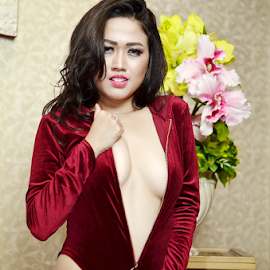 sexy by Renie A. Priyanto - Nudes & Boudoir Artistic Nude ( #lingerie #woman #red #beauty #nudes )