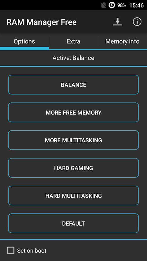 RAM Manager Free- screenshot