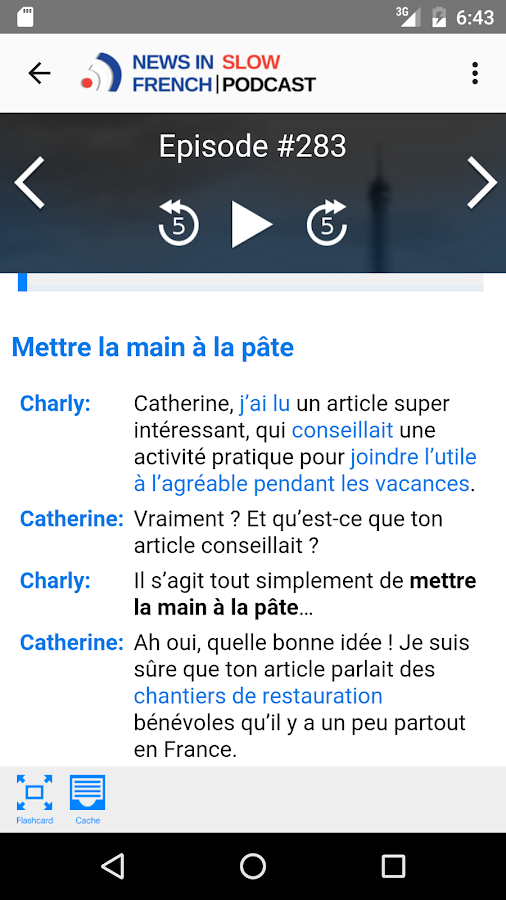 News in Slow French- screenshot