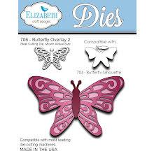 Elizabeth Craft Metal Die - Butterfly Overlay 2