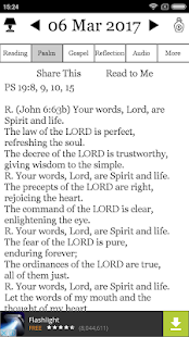 Daily Reflections on Reading, Psalm and Gospel - náhled