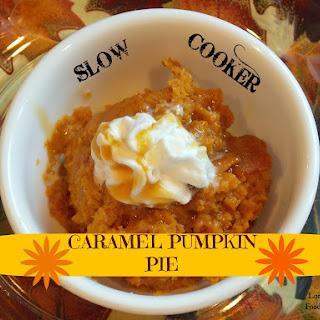 Slow Cooker Caramel Pumpkin Pie