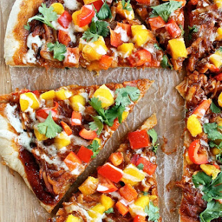 "BBQ ""Pulled Pork"" Pizza with Mango Salsa"