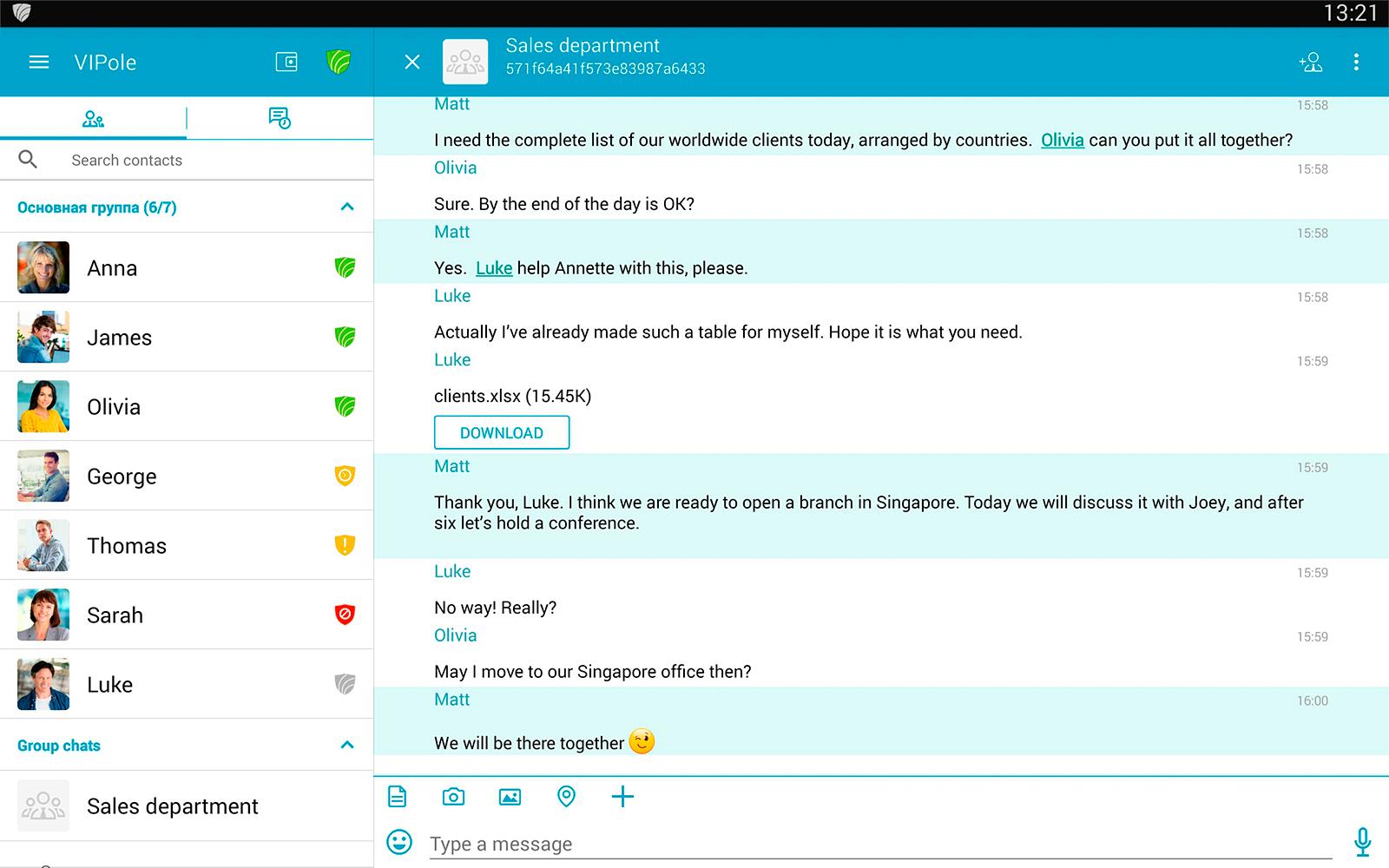 VIPole Secure Messenger screenshot #8