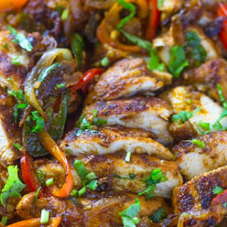 One Pan Fajita Chicken.