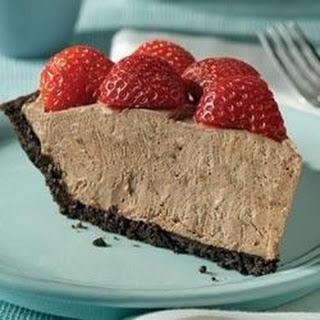 Chocolate-Berry No-Bake Cheesecake.