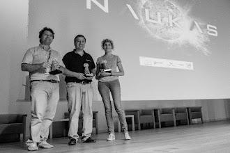 Photo: Los tres flamantes y brillantes Premios Tesla: José Miguel, José Ramón y Jos... digo, Laura @lauramorron.¡Felicidades a los tres! :)