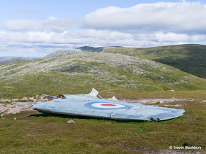 Photo: Wreckage from Canberra WJ615 on Carn an t-Sagairt Mor, which crashed 22 Nov 1956
