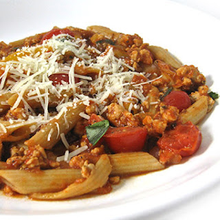 Skinny Penne Arrabiatta with Turkey Sausage