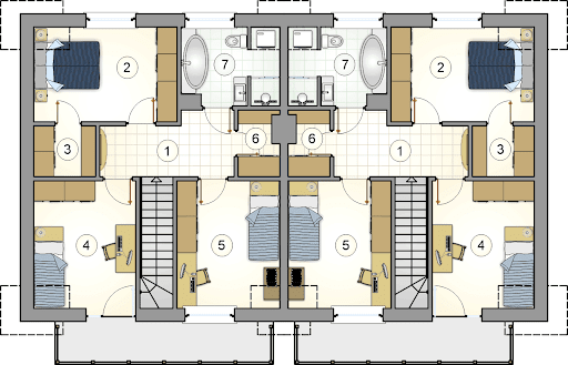 Double House II - Rzut poddasza