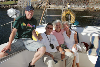 Photo: Frode, our fathful crew from many long sails brought his son-in-law Nils and wife Susanne