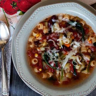 Garden Minestrone Soup.