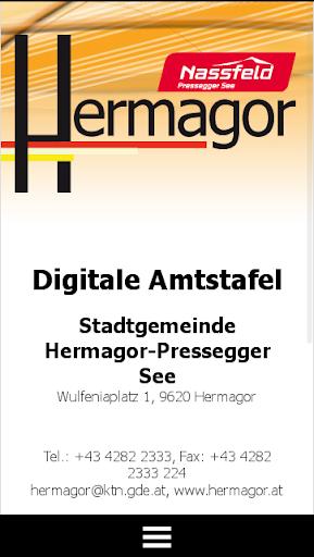 Digitale Amtstafel Hermagor