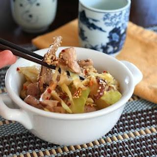 Pork, Mushroom and Cabbage Stir Fry (Low Carb).