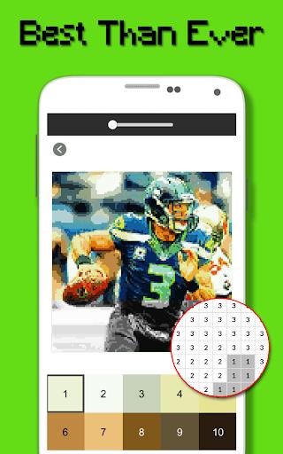 American Football Player Color By Number - Pixel apktram screenshots 4
