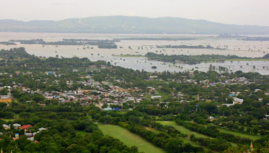 Photo: Year 2 Day 55 -  View of the Shan Hills and the Ayeyarwady River