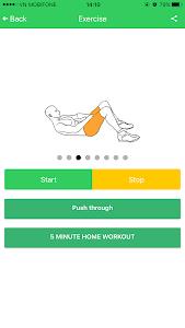 Abs 5 minutes workout screenshot 25