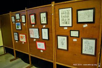 Photo: Expo de dessins organisée par Boby Jack.