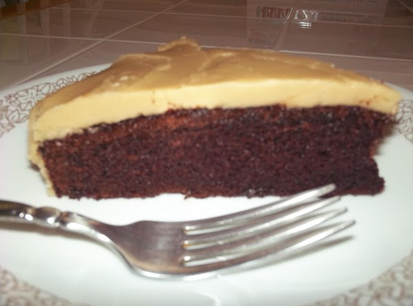 I especially love this icing on chocolate layers. I made two layers, froze one and iced one. YUMMM-O!!!