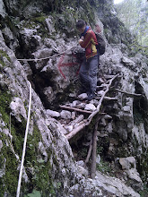 Photo: dangerous rocks - below is steep fall directly into the river