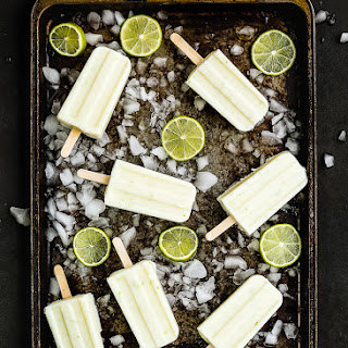 Easy 3-Ingredient Key Lime Popsicles.