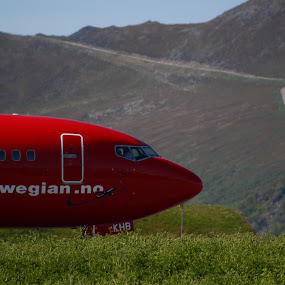 norwegian at Andenes by Benny Høynes - Transportation Airplanes ( flyshow, fly, andøya, planes, airborn )