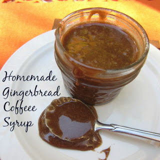 Homemade Gingerbread Coffee Syrup.