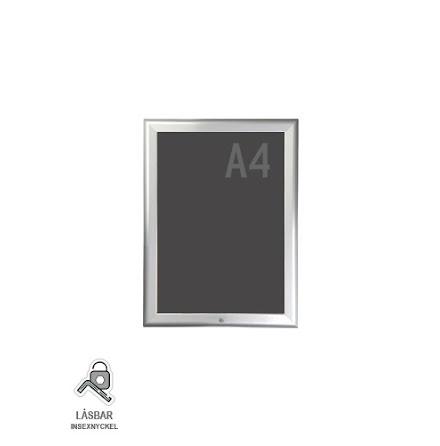 Snäppram, lockable A4s, 32mm aluminiumprofil