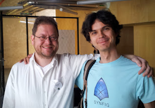 Photo: Rempt , lead dev of Krita and chairman of the Krita Foundation , and Konstantin Dmitriev's profile photo Konstantin Dmitriev , director of Morevna project ( open source Anime ) Synfig project