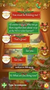 (FREE) GO SMS MERRY CHRISTMAS THEME - náhled