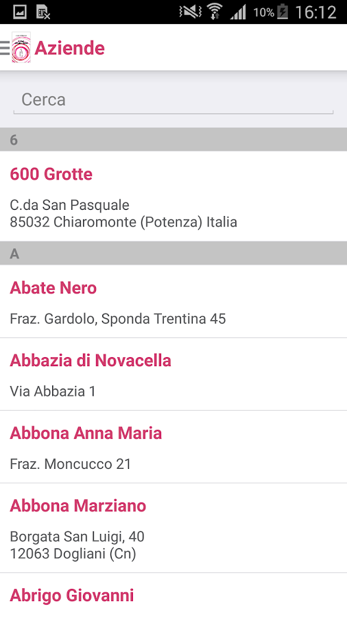 I Vini d'Italia- screenshot