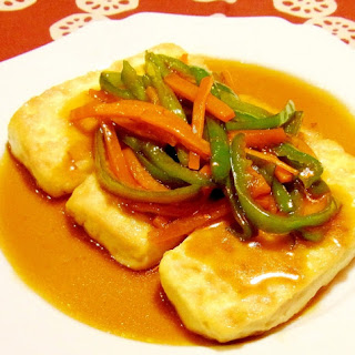 Tofu Steak with Thick Japanese-Style Ankake Sauce