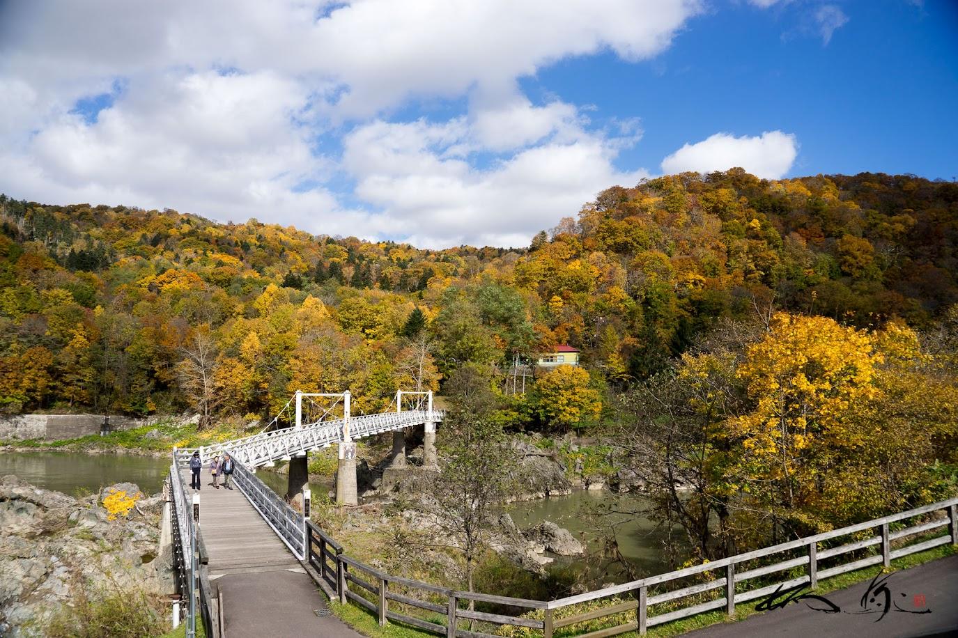 神居大橋(吊り橋)