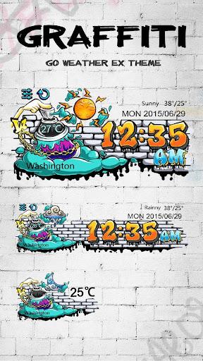 Graffiti GO Weather Widget
