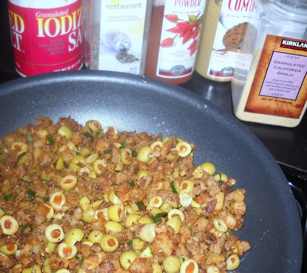 Add onion and zucchini, then cook about 8 more minutes.  Add spices and...