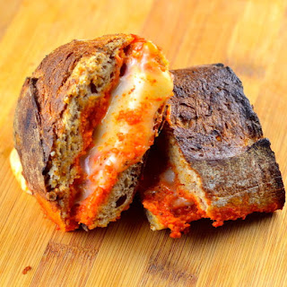 Manchego & Romesco Grilled Cheese Sandwich.