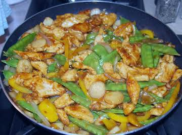 Bev's Sweet & Spicy Orange Chicken - sugar free