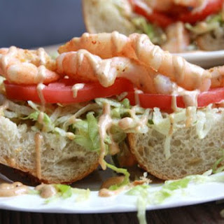 Grilled Shrimp PoBoys with Remoulade